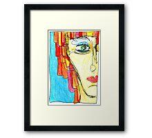Demi-Face in Red Framed Print