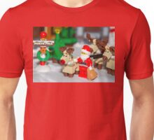 Santa and the reindeers  Unisex T-Shirt