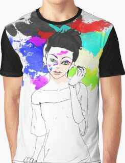 A Touch of Color Graphic T-Shirt