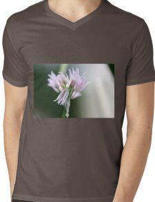 Chive Flower Mens V-Neck T-Shirt