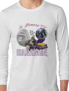 Harambe Tribute Shirt Purple Long Sleeve T-Shirt