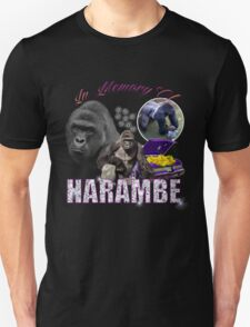 Harambe Tribute Shirt Purple Unisex T-Shirt