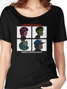 Stranger Things, Gorillaz  Women's Relaxed Fit T-Shirt
