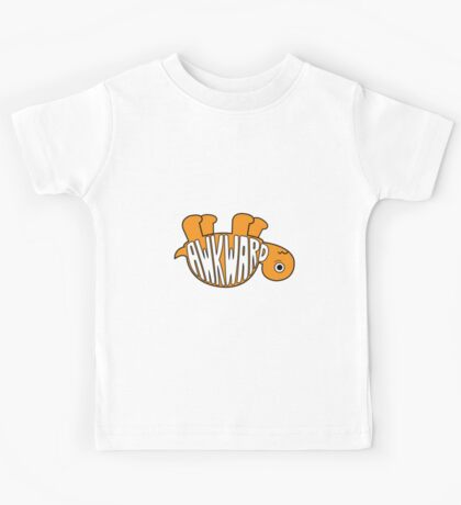 Awkward Turtle - ORANGE Kids Tee
