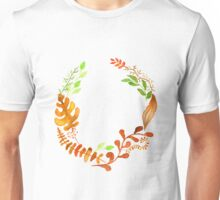 Hello autumn. Watercolor autumn leaves wreath Unisex T-Shirt