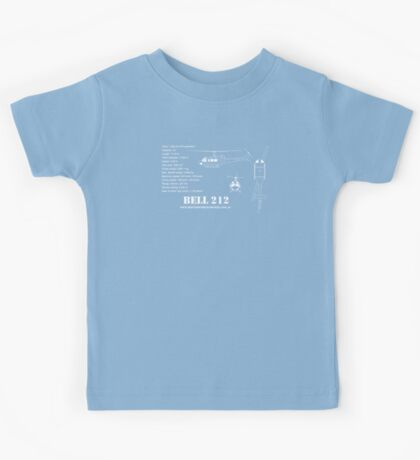 Bell 212 Helicopter Specs Kids Tee