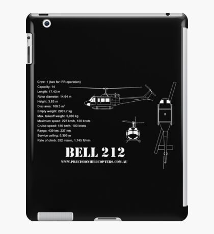 Bell 212 Helicopter Specs iPad Case/Skin