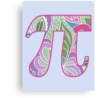 Girly Pi Canvas Print