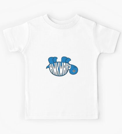 Awkward Turtle - BLUE Kids Tee