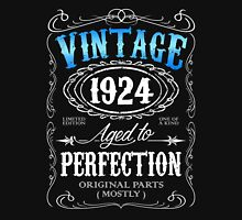 Vintage 1924 aged to perfection 92nd birthday gift for men 1924 birthday Unisex T-Shirt
