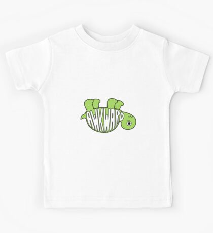 Awkward Turtle - GREEN Kids Tee