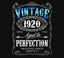 Vintage 1920 aged to perfection 96th birthday gift for men 1920 birthday Unisex T-Shirt