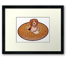 The Everything Bagel Beagle Framed Print