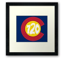 Hand Drawn Colorado Flag 720 Area Code Framed Print