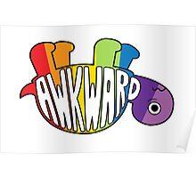Awkward Turtle - RAINBOW Poster