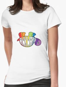 Awkward Turtle - RAINBOW Womens Fitted T-Shirt