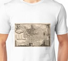 Map Of Rome 1773 Unisex T-Shirt