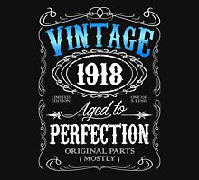 Vintage 1918 aged to perfection 98th birthday gift for men 1918 birthday Unisex T-Shirt