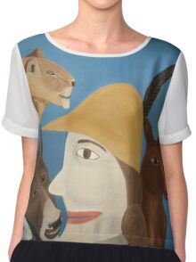 All God's Creatures Chiffon Top