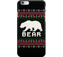 Bear Ugly Christmas Sweater iPhone Case/Skin
