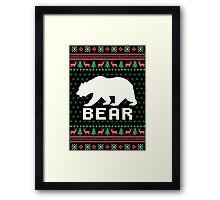 Bear Ugly Christmas Sweater Framed Print