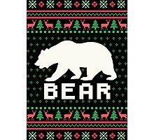 Bear Ugly Christmas Sweater Photographic Print