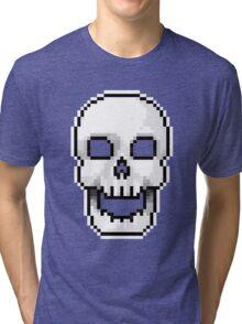 Pixel skull Tri-blend T-Shirt