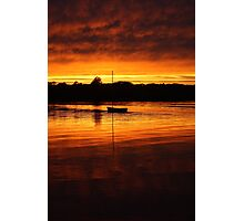 Sunsetting on a Boat Photographic Print