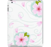 cherry blossoms on the wind iPad Case/Skin