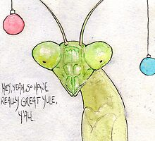 Awkward Insects - Yule Mantis by trudelfish