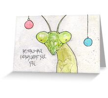 Awkward Insects - Yule Mantis Greeting Card