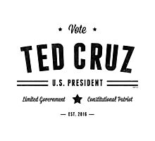 Vote Ted Cruz 2016 Photographic Print