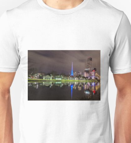 View of the Melbourne Rowing Sheds at night Unisex T-Shirt