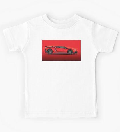 Red Aventador LP 750-4 Superveloce Kids Tee