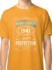 Vintage 1941 aged to perfection 75th birthday gift for men 1941 birthday Classic T-Shirt