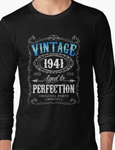 Vintage 1941 aged to perfection 75th birthday gift for men 1941 birthday Long Sleeve T-Shirt