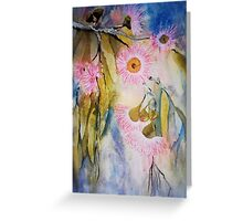 Pink are my Gum Blossoms Greeting Card