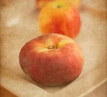 Peaches and Apple by DIANE  FIFIELD