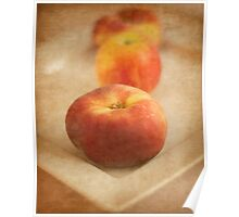 Peaches and Apple Poster