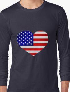 USA - my love and heart Long Sleeve T-Shirt