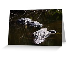 salt water crocodile Greeting Card