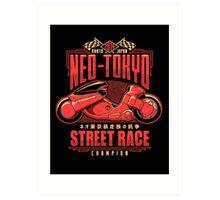 Neo-Tokyo Street Racing Champion Art Print