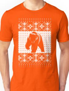 Grizzly Bear Ugly Christmas Unisex T-Shirt