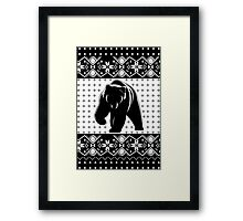 Grizzly Bear Ugly Christmas Framed Print