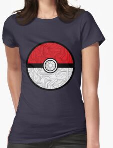 Electric Pokeball Womens Fitted T-Shirt