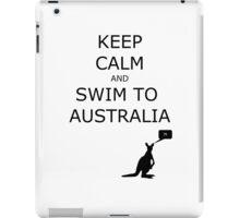 Keep Calm and Swim to Australia - Kangaroos on Noah's Ark iPad Case/Skin