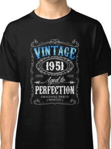 Vintage 1951 aged to perfection 65th birthday gift for men 1951 birthday Classic T-Shirt