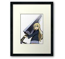 K-ON x Berserk 2 Framed Print