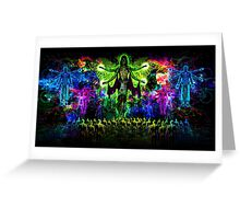 Rainbow Godess of Cosmic Life Greeting Card