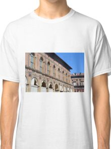 Classical buildings from Bologna with arches and decorations. Classic T-Shirt